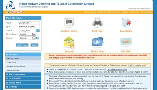 IRCTC booking step-by-step guide