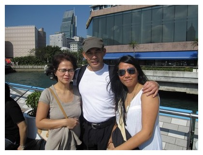 Me and my family in Hong Kong