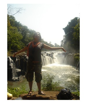 Me at the Bolaven Plateau in Pakse, Laos