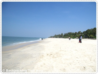 The white beach of Alleppey in South India