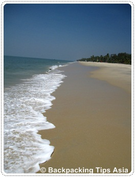 Beach in Alleppey town, Kerala