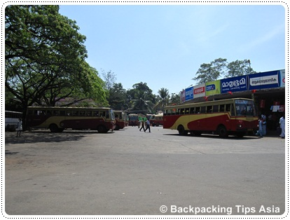 KSRTC bus station in Alleppey, Kerala