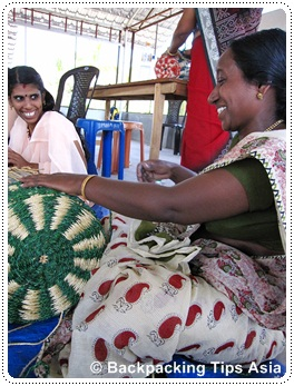 At the Muhamma sub center where local women work with coir, in Allapuzha district