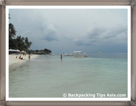 Beautiful Alona Kew Beach in Bohol, Philippines