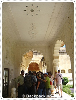 Palace at Amber fort in Jaipur, north India