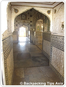 The mirror hall at Amber Fort India