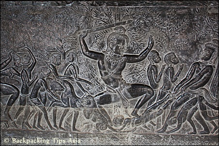 Angkor and bas reliefs