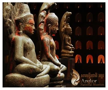 Buddha at Angkor National museum in Siem Reap, Cambodia