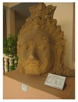 Artifact at Angkor Museum in Siem Reap, Cambodia