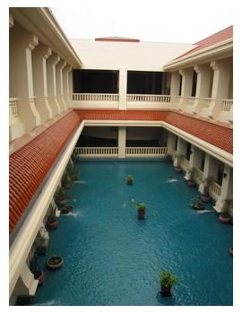 Inside angkor international museum in Siem Reap, Cambodia