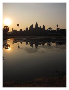 Angkor wat reflections in April 2010