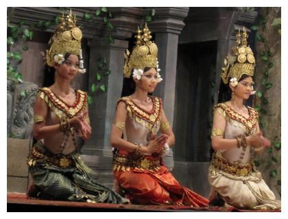 Apsara dancers at Koulen 2 restaurant in Siem Reap Cambodia