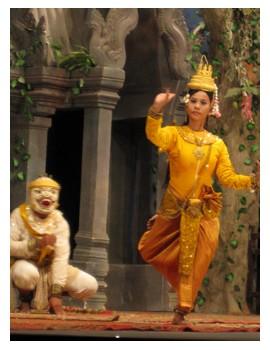 Apsara performance dancers at Koulen 2 restaurant in Siem Reap Cambodi