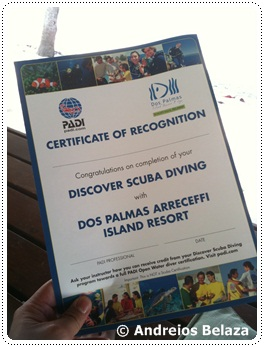 Scuba diving certificate in Palawan, Philippines