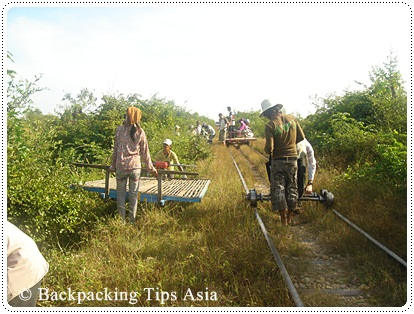 On and off the bamboo train in Battambang