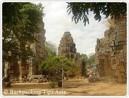 View of Wat Banan in Battambang, Cambodia