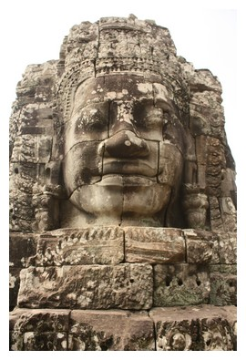 Face of Bayon in Angkor park