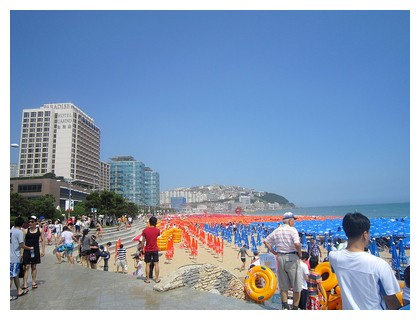 Beach in Busan during daytime