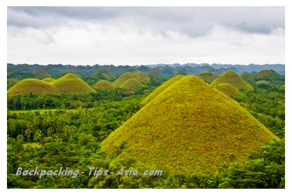 View of Choclate Hills in Bohol island, Philippines