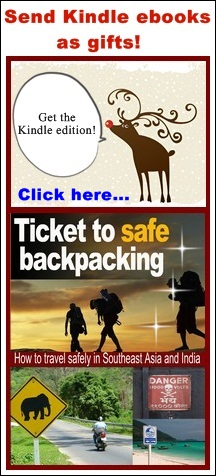 ticket to safe backpacking christmas flat ebook cover