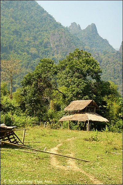 The countryside in Vang Vieng