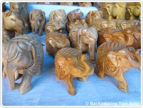 Elephant souvenirs at Dilli Haat market in New Delhi, India