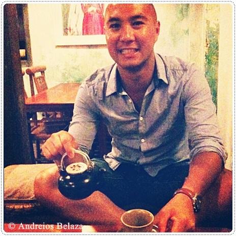 Drinking tea in Hoi An, Vietnam
