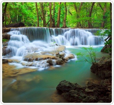 View of Erawan waterfalls in Thailand, ©iStockphoto.com/lkunl