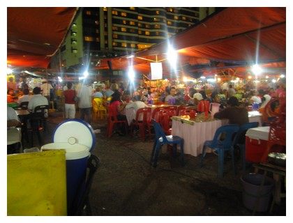 Food stalls at the Filipino Market in Kota Kinabalu