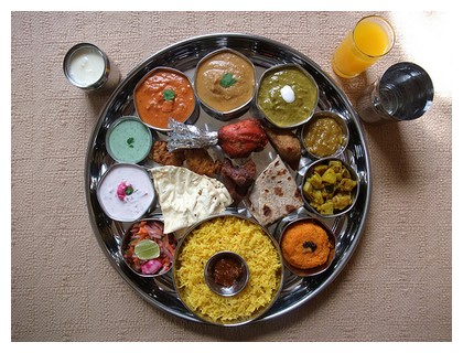 Thali dish in Mumbai, India