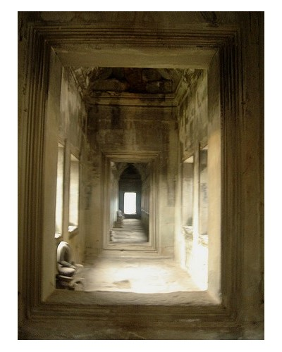 Hall of Angkor Watt in Siem Reap, Cambodia