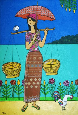Cambodian Paintings Khmer Art
