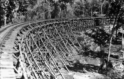 Death railway in Kanchanaburi in Thailand