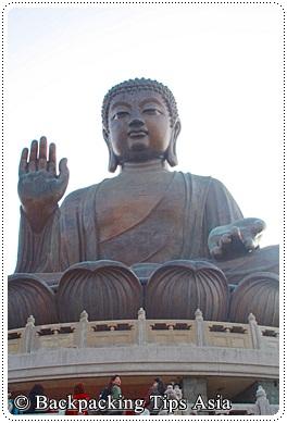 Buddha at Lantau island in Hong Kong