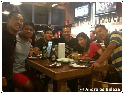 The birthday group at Hooters in Manila
