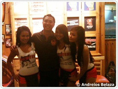 At Hooters restaurant in Pasay city, Manila