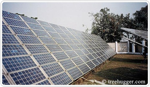 Solar panels, photo courtesy of treehugger.com