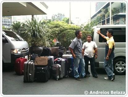 Outside intercontinental hotel in Manila