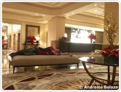 Relaxing at Intercontinental Hotel in Manila