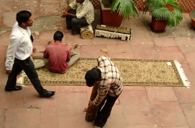 Shopping carpets in India