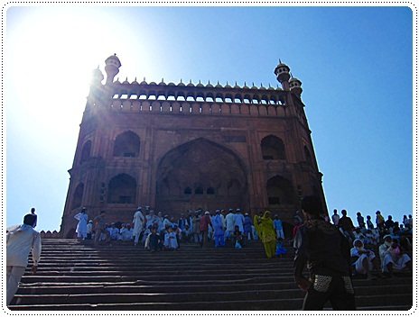 Jama masjid mosque in Delhi, north India