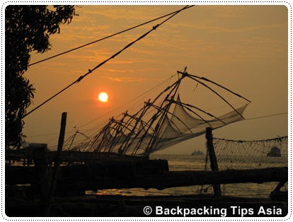 Chinese Fishing nets in Fort Kochi, India