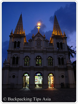 Santa Cruz Basilica in Fort Kochi, India