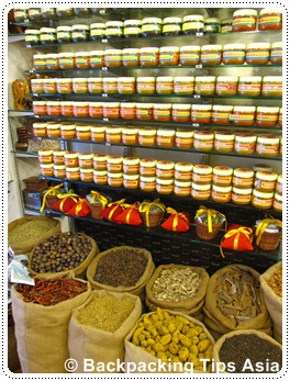 Spice market at Mattancherry in Fort Kochi, India