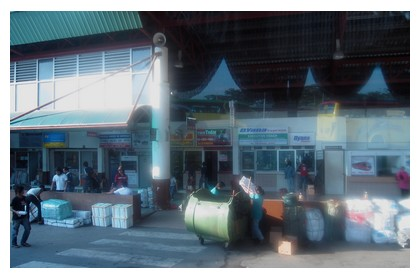 Inanam bus station in Kota Kinabalu