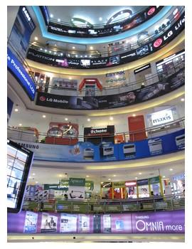 Low Yat Mall in Kuala Lumpur - center of electronic goods