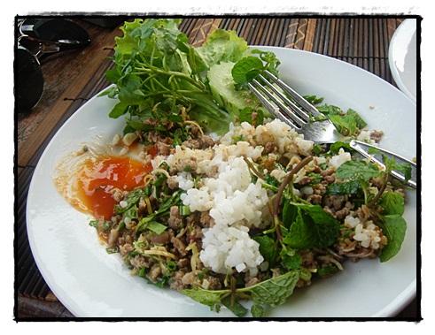 Laap dish in Luang Prabang