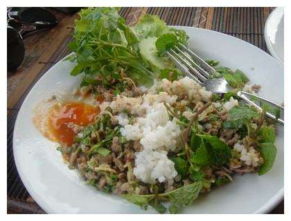 Laap dish in Laos
