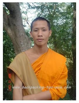 A friendly, local novice in Luang Prabang, laos