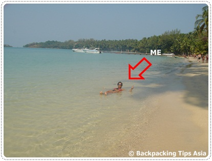 Me on Koh Mak beach in Thailand